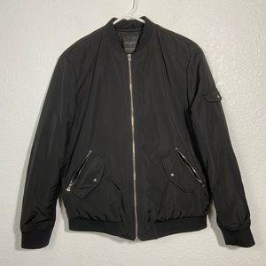 Zara Trafaluc Outerwear Black Bomber Jacket Medium